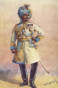 Major-General Maharaja Sir Pratap Singh Bahadur, Indian Soldier by Alfred Crowdy Lovett