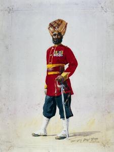 Soldier of the 35th Sikhs, Subadar, Illustration for 'Armies of India' by Major G.F. MacMunn,… by Alfred Crowdy Lovett