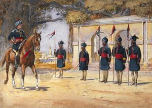 Soldiers of the 10th Duke of Cambridge's Own Lancers (Hodson's Horse), 'The Quarter Guard',… by Alfred Crowdy Lovett
