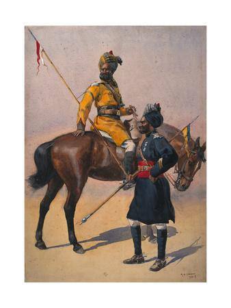 Soldiers of the 1st Duke of York's Own Lancers (Skinner's Horse) Hindustani Musalman and 3rd…