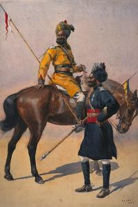 Soldiers of the 1st Duke of York's Own Lancers (Skinner's Horse) Hindustani Musalman and 3rd… by Alfred Crowdy Lovett