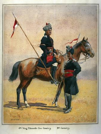 Soldiers of the 6th Edward's Own Cavalry and the 8th Cavalry, Illustration for 'Armies of India'…