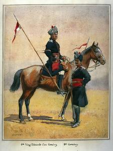 Soldiers of the 6th Edward's Own Cavalry and the 8th Cavalry, Illustration for 'Armies of India'… by Alfred Crowdy Lovett