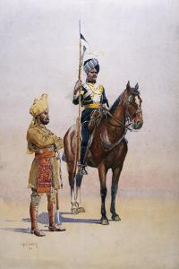 Soldiers of the Mysore Transport Corps, Illustration from 'Armies of India' by Alfred Crowdy Lovett