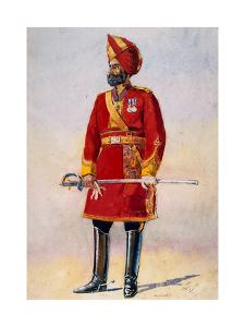 The Commandant of the Bharatpur Infantry, Illustration for 'Armies of India' by Major G.F.… by Alfred Crowdy Lovett