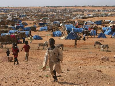 Children Play in the North Darfur Refugee Camp of El Sallam on Wednesday October 4, 2006