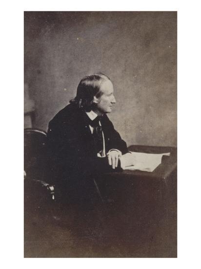 Alfred de Vigny, Académie française en 1845-Gustave Le Gray-Giclee Print