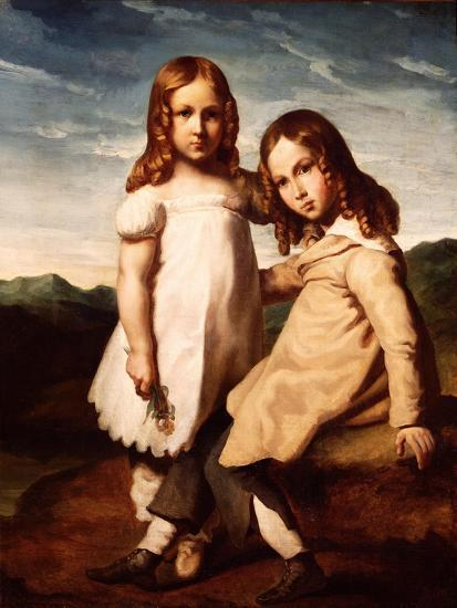 Alfred Dedreux (1810-60) as a Child with His Sister, Elisabeth, 1816-17-Theodore Gericault-Giclee Print