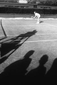 1971 Wimbledon: Tennis Player in Ready Position by Alfred Eisenstaedt