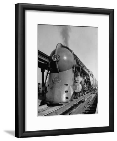 20th Century Limited Locomotive on Tracks
