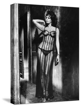 """Actress Sophia Loren Costumed in Brothel Scene From the Movie """"Marriage Italian Style"""""""