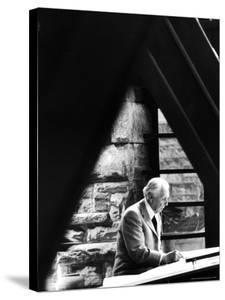 Architect Frank Lloyd Wright Working at Home by Alfred Eisenstaedt