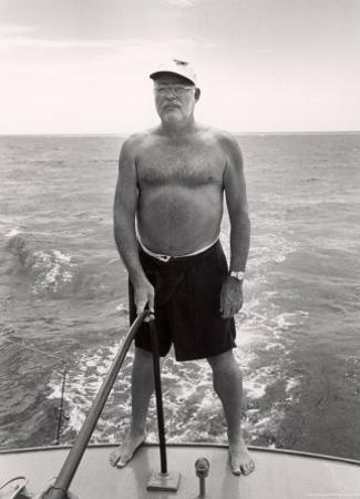 Author Ernest Hemingway Deep Sea Fishing in Waters Off Havana