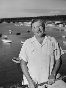 Author Ernest Hemingway Posing in Cojimar Harbor by Alfred Eisenstaedt