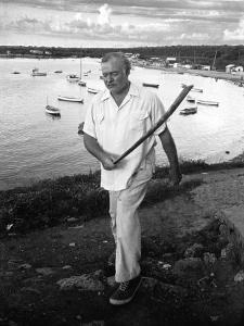 Author Ernest Hemingway Walking in Cojimar Harbor by Alfred Eisenstaedt