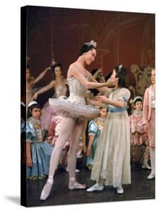 Ballerina Maria Tallchief Performing in the Nutcracker Ballet at City Center by Alfred Eisenstaedt