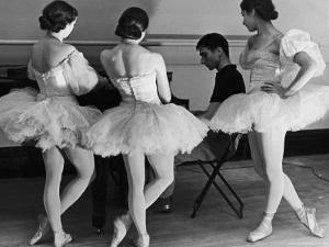 Ballerinas at George Balanchine's American School of Ballet Gathered During Rehearsal by Alfred Eisenstaedt
