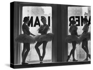 Ballerinas Standing on Window Sill in Rehearsal Room, George Balanchine's School of American Ballet by Alfred Eisenstaedt