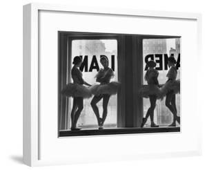 Ballerinas Standing on Window Sill in Rehearsal Room, George Balanchine's School of American Ballet by Alfred Eisenstaedt