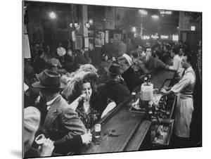 Bar Crammed with Patrons at Sammy's Bowery Follies by Alfred Eisenstaedt