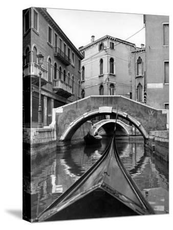 Canal on Island of Burano in Venetian Lagoon