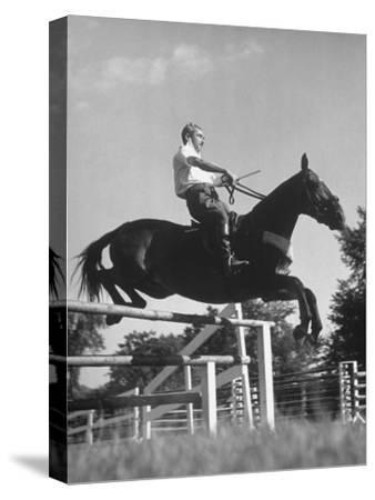 Capt. Theodore Galiza, Russian Riding Master, Taking Triple Bars, Horse Show Organized