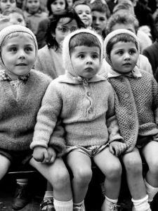 Children Watching Story of St. George and the Dragon at the Puppet Theater in the Tuileries by Alfred Eisenstaedt