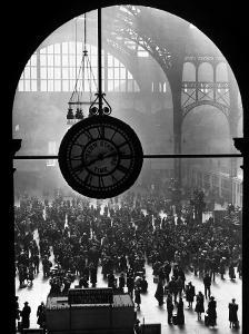 Clock in Pennsylvania Station by Alfred Eisenstaedt