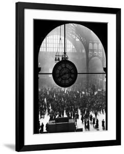 Clock in Pennsylvania Station by Alfred Eisenstaedt