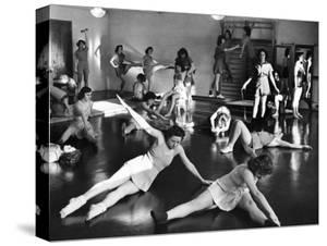 Coeds at the University of New Hampshire Performing Various Corrective Gymnasium Workouts by Alfred Eisenstaedt