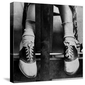 College Coed Sporting, Ubiquitous Saddle Shoes by Alfred Eisenstaedt
