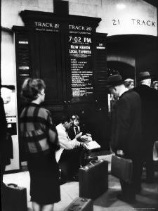 Commuters on the New York New Haven Line Catching Evening Train from Grand Central Station by Alfred Eisenstaedt
