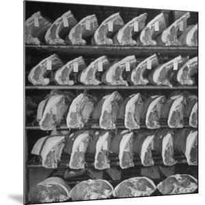 Cuts of Beef on Shelves at Meat Processing and Packing Plant by Alfred Eisenstaedt