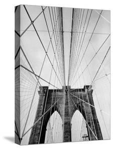 Detail of the Brooklyn Bridge by Alfred Eisenstaedt