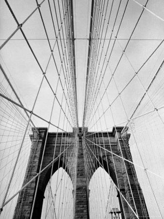 Detail of the Brooklyn Bridge by Alfred Eisenstaedt