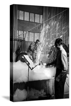 Disney's Jim Mcdonald and Paul Smith on a Sound Effects Stage Creating Sounds, Burbank, CA, 1953
