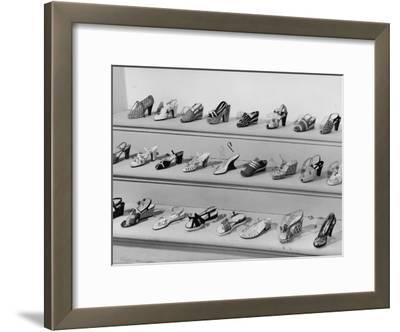 Display of Ferragamo Shoes