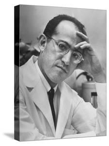 Dr. Jonas Salk, Inventor of the New Polio Vaccine, in Serious Portrait by Alfred Eisenstaedt