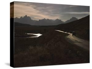 Entering Jackson Hole from East Along the Blackrock Creek with Grand Tetons, Wyoming by Alfred Eisenstaedt