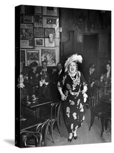 Entertainer Dora Pelletier Singing at Sammy's Bowery Follies by Alfred Eisenstaedt