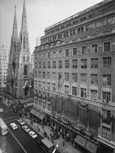 Exterior View of Saks Fifth Ave. Department Store by Alfred Eisenstaedt