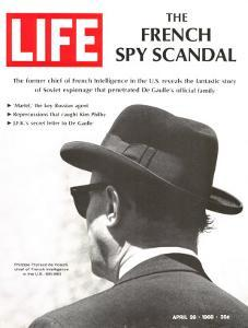 French Spy Scandal, Philippe Thyraud De Vosjoli, Head of French Intelligence in US, April 26, 1968 by Alfred Eisenstaedt