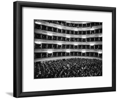 Full Capacity Audience at La Scala Opera House During a Performance Conducted by Antonio Pedrotti