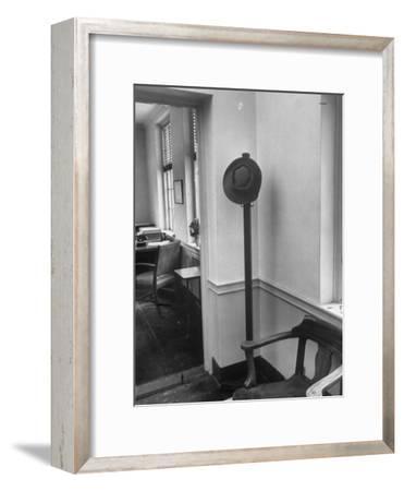 J. Robert Oppenheimer's Famous Porkpie Hat Which Hangs Outside of His Office