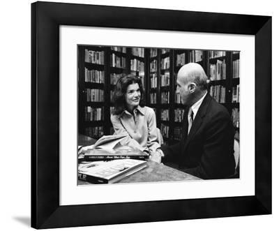 Jacqueline Kennedy Onassis and Boss Thomas H. Guinzburg at Viking Press