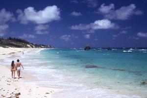 July 1973: Couple Walking on the Beach, Bermuda by Alfred Eisenstaedt