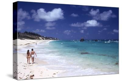 July 1973: Couple Walking on the Beach, Bermuda