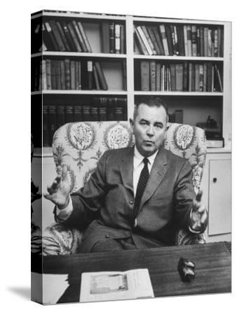Justice William J. Brennan in Arm Chair at Home