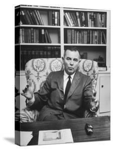 Justice William J. Brennan in Arm Chair at Home by Alfred Eisenstaedt