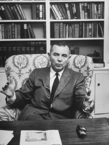 Justice William J. Brennan in Arm Chair at Home by Alfred Eisenstaedt